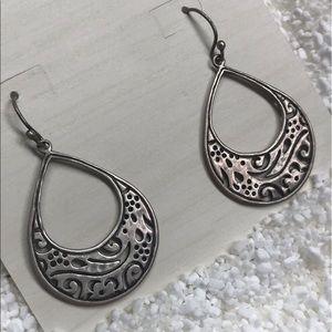 Silpada drop hoop earrings